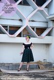 Louella DeVille Maria Green Plaid Winter Circle Skirt