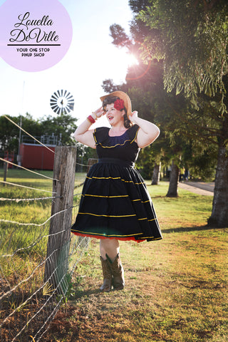 Louella DeVille Whoa Black Bettie Skirt
