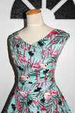 Timeless Minty Mingo Flamingo Summer Dress