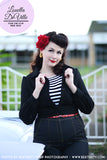 Louella DeVille Black Wool Blend 1940s Lumber Jacket