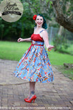 Louella DeVille Blue Yee Haa Polly Dress