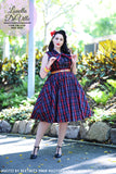 Louella DeVille Black Red Plaid Bettie Skirt