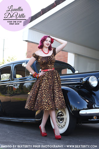 Louella DeVille Into The Jungle Leopard Bettie Skirt