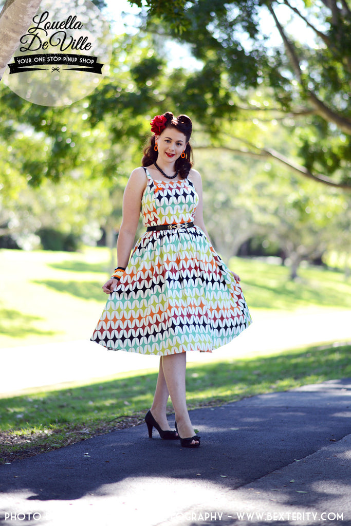 Louella DeVille Retrospeck Starburst Frenchie Dress