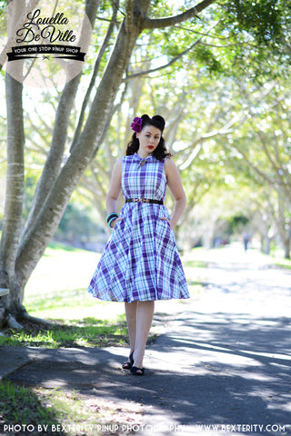Louella DeVille Draper Dress Summer Rose