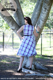 Louella DeVille Cassandra Tie Tartan Swing Dress
