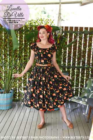 Louella DeVille For Fox Sake Black Fox Draper Dress