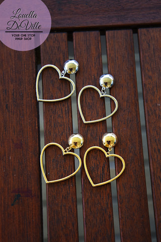 Make Your Heart Drop Hoops (Silver & Gold!)