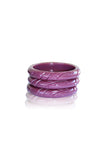 Clara Tiki Twist Carved Bangle (Various Colours!)