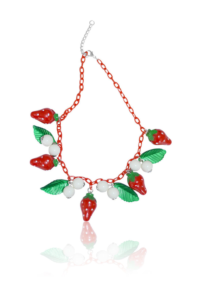 Louella DeVille Handmade Strawberry Fields Necklace