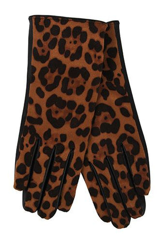 Leopard Winter Gloves - Touch Phone Friendly!