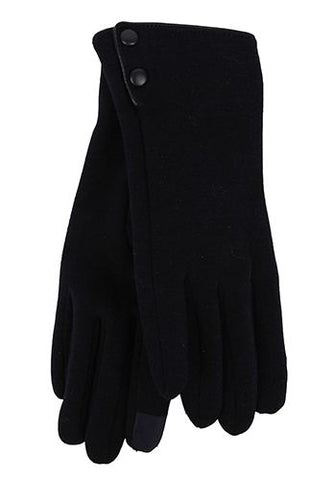 Winter 2 Button Gloves - Smart Phone Friendly!