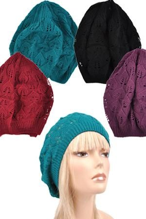 Winter Open Knit Crochet Beanie (Various Colours!)