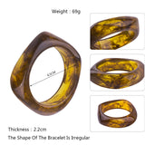 Lucy Marbled Curve Bangles (Various Colours)