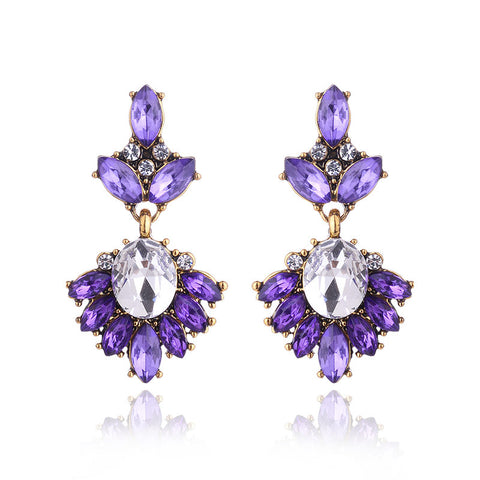 Elanor Antique Style Rhinestone Earrings (Various Colours!)