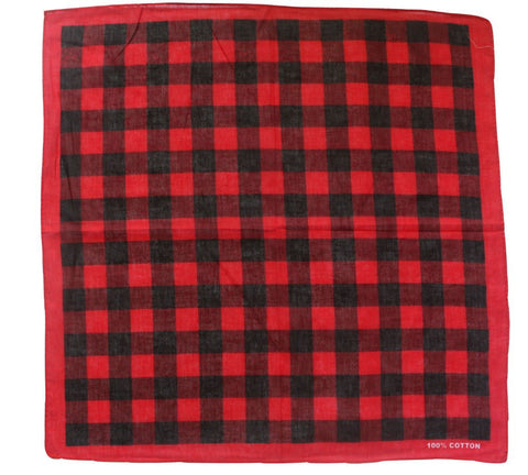 Red & Black Plaid Bandana