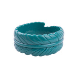 Fern Carved Fakelite Resin Bangle (Various Colours!)
