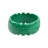 Gemma Carved Tiki Resin Fakelite Bangle (Various Colours!)