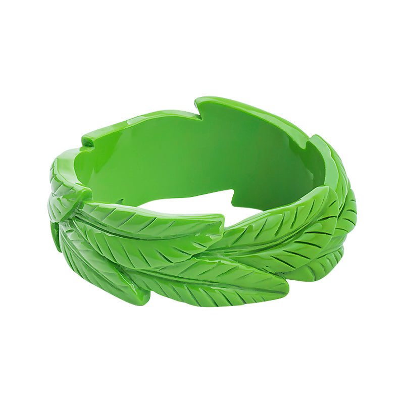Tiki Carved Leaf Fakelite Bangles (Various Colours!)