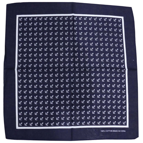 Navy Anchor Bandana