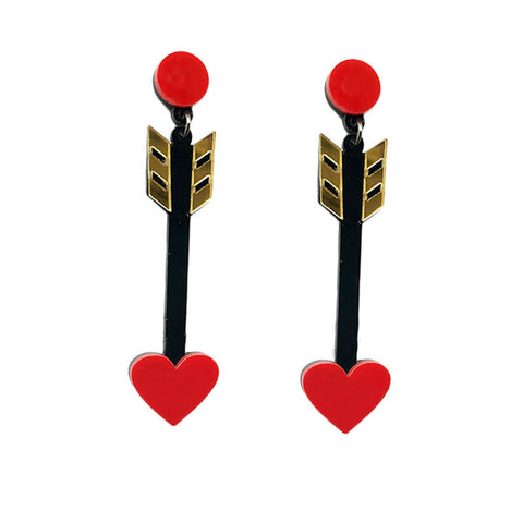 Slay All Day Statement Acrylic Arrow Earrings
