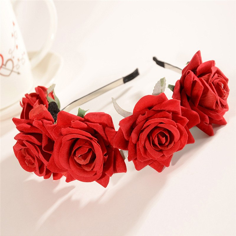 Louella DeVille Rose Flower Mini Crown Headbands