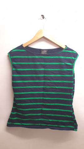 Pre loved blue stripe garage girl blouse