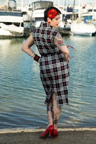 Louella DeVille Plaid Wiggle Day Dress