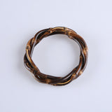 Tiki Time Dark Bamboo Twist Bangle