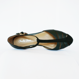 Charlie Stone Leather Toscana Green Flats