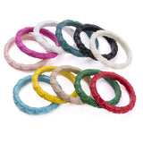 Lana Carved Stacker Bangles (Various Colours)