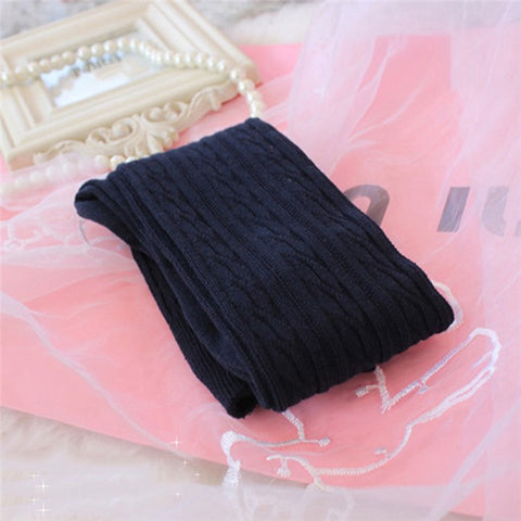 Knee High Winter Knit Cable Socks Sox