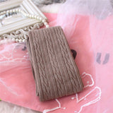Knee High Winter Knit Cable Socks