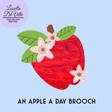 Louella DeVille Handmade An Apple A Day Brooch