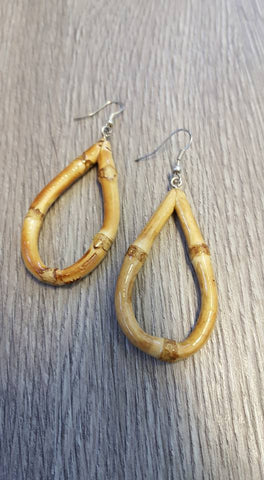 Tiki Time Bamboo Teardrop Earrings