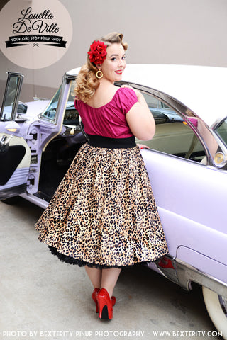 Louella DeVille Cheetin' Heart Bettie Skirt