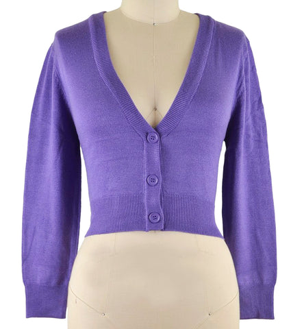 Peggy Sue Cropped PinUp Cardigan Blueberry
