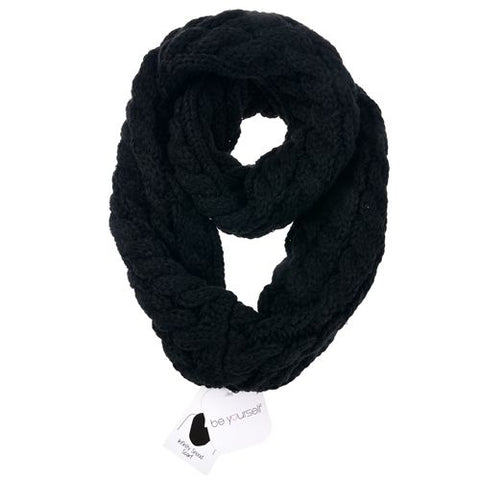 Winter Knitted Plait Snood Scarf (Various Colours!)
