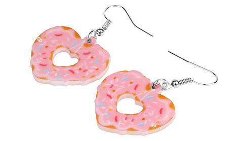 Louella DeVille I Heart Donuts Earrings