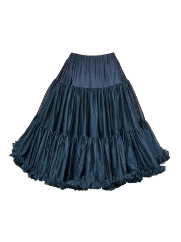 Louella DeVille Luxurious Single Layer Petticoat Burgundy 26""