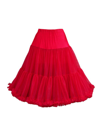 Louella DeVille Luxurious Double Layer Petticoat Red 27""