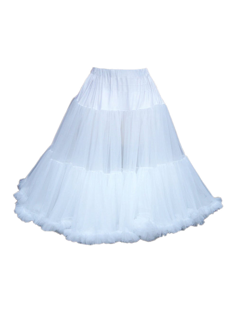 Louella DeVille Luxurious Double Layer Petticoat White 27""