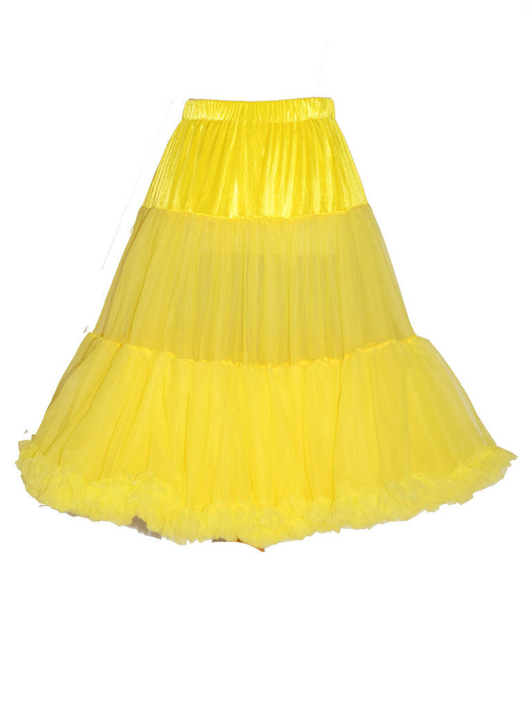 Louella DeVille Luxurious Double Layer Petticoat Yellow 26""