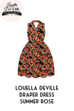 Louella DeVille Draper Dress v2 Black Summer Rose