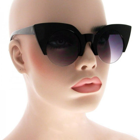 Amanda Retro Round Cat Eye Sunglasses 1770 (Various Colours!)