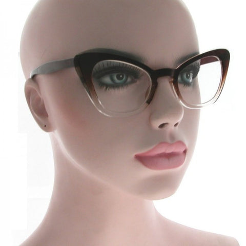 Hillary Clear Cat Eye Glasses 1732 (Various Colours!)