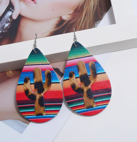 Meet Me In Mexico Leopard Cactus Earrings