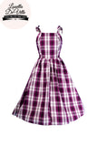Louella DeVille Magenta Plaid Frenchie Dress