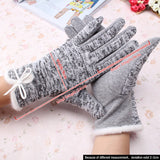 Faux Fur Lined Knit Winter Gloves