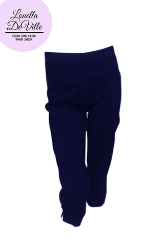 Allison Stretch Bengaline Capris Navy